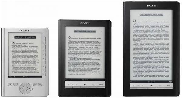 Familia de eBooks Sony Reader